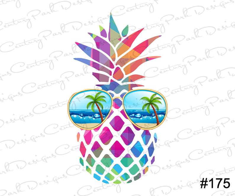 Pineapple With Sunglasses Sublimation Sublimation Transfer Ready To Press Design 175 Sublimation Designs In 2020 Vinyl Crafts Silhouette Cameo Projects Sublime