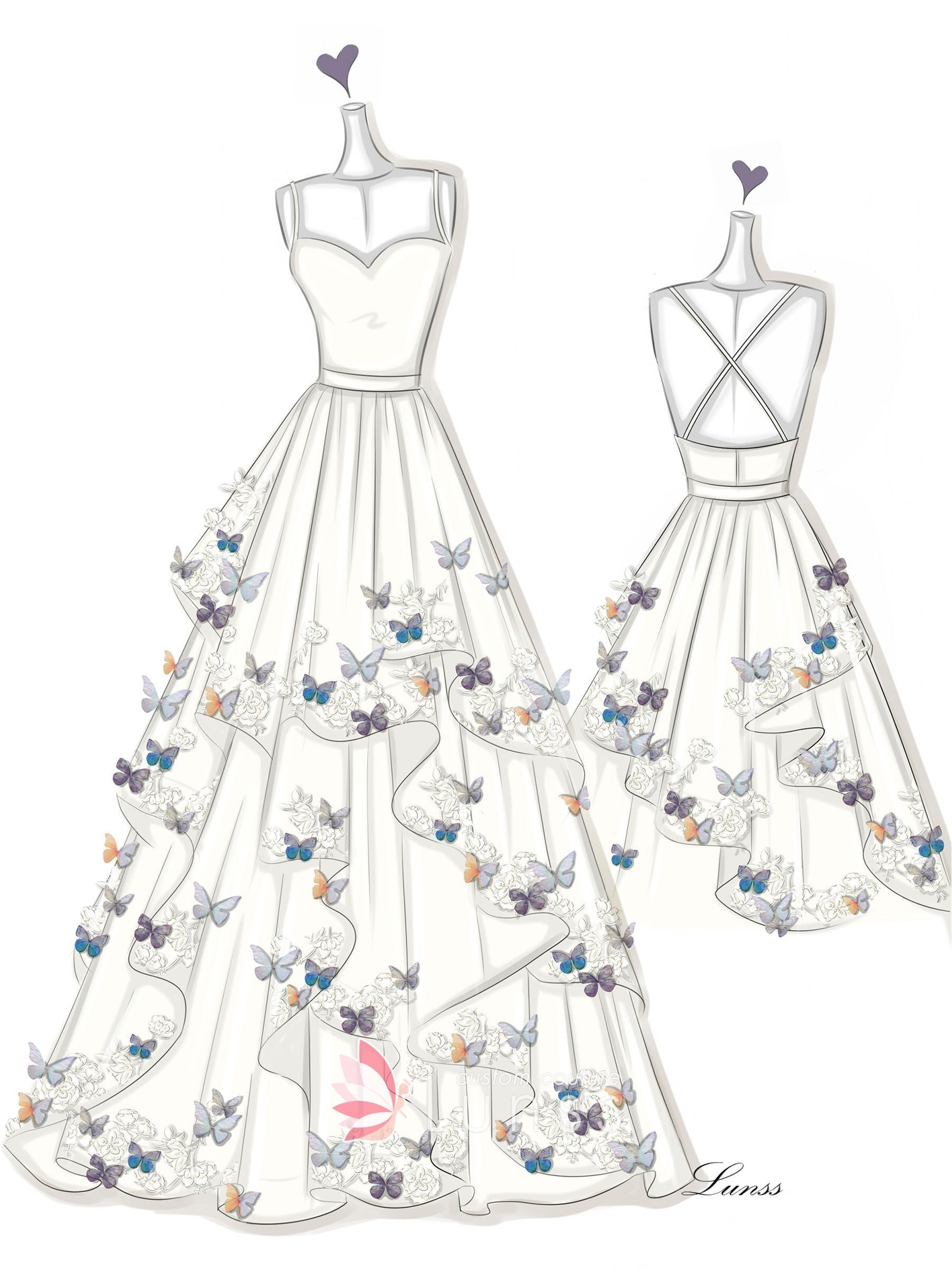 Photo of Dress Sketches Gallery – Wedding Dresses, Evening Prom Gowns