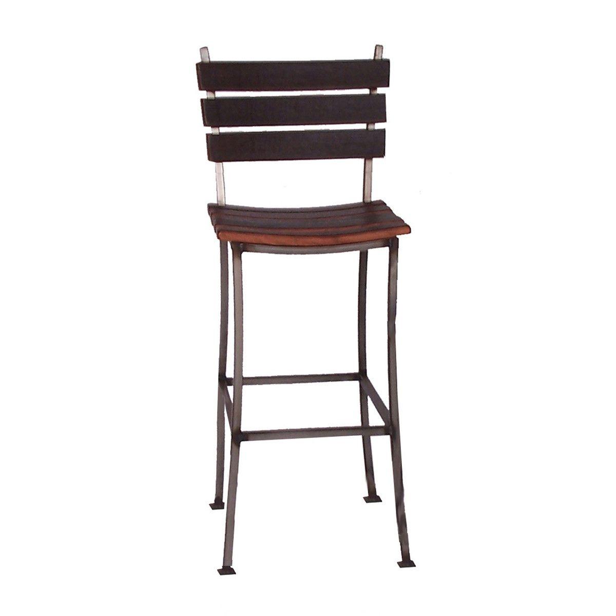 Stave Back Bar Stool 30 Recycled Wine Barrel Iron 2 Day Designs Bar Stools Wine Barrel Furniture 30 Inch Bar Stools