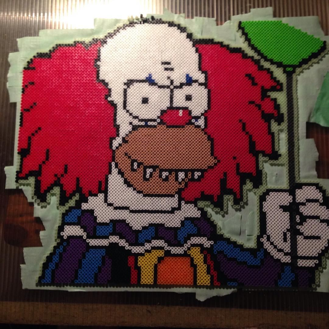 Krusty the clown from the Simpson\'s as #pennywise from the #movie ...