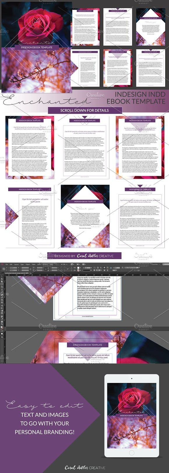 Enchanted Indesign Ebook Template. Creative Business Card Templates ...