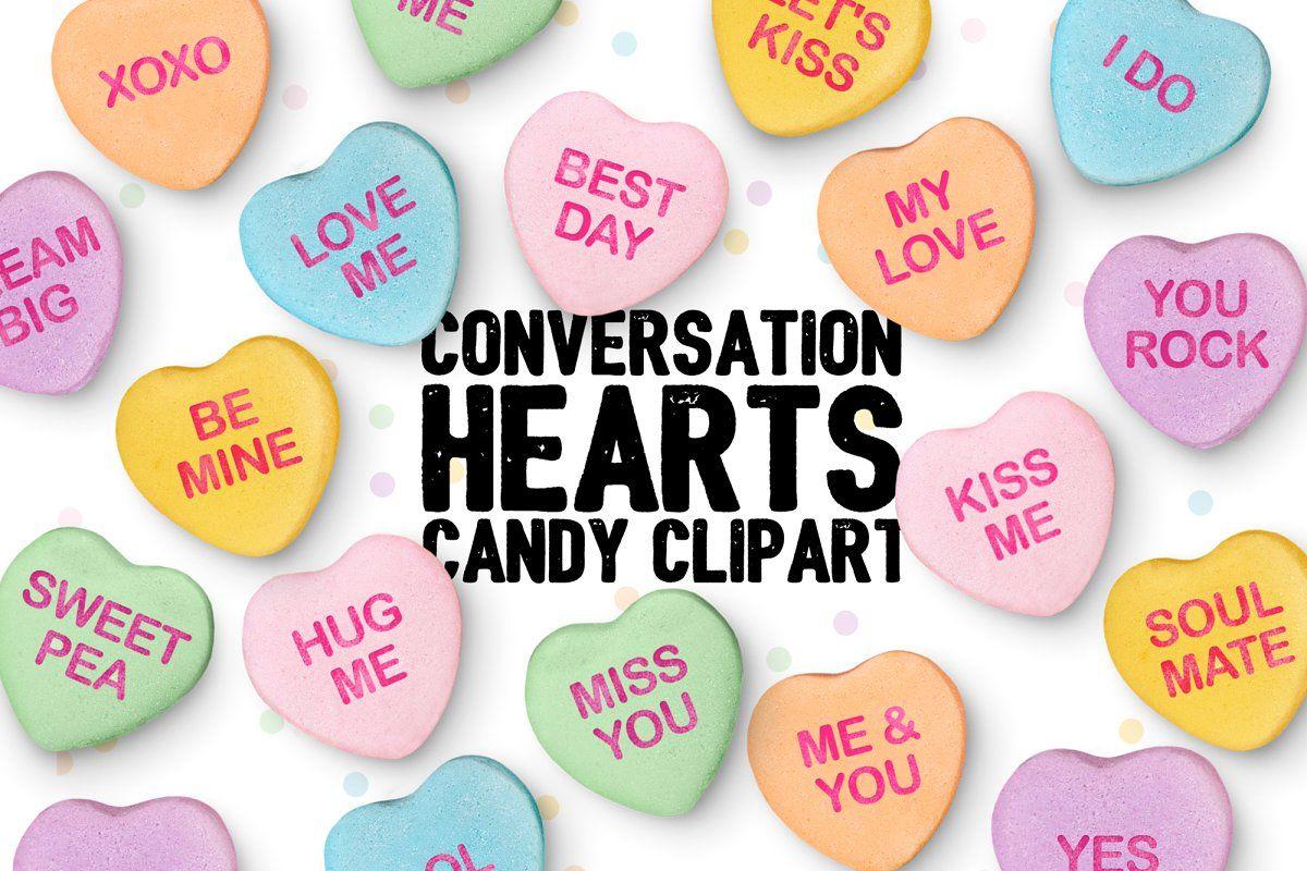 Conversation Hearts Clipart Clip Art Valentine Clipart Converse With Heart