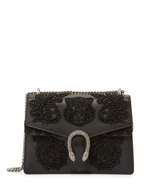 123238da7 Dionysus Medium Embroidered Shoulder Bag Black | Bags & wallets ...