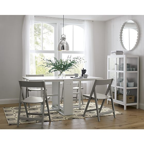 Span White Gateleg Dining Table In Tables Spare