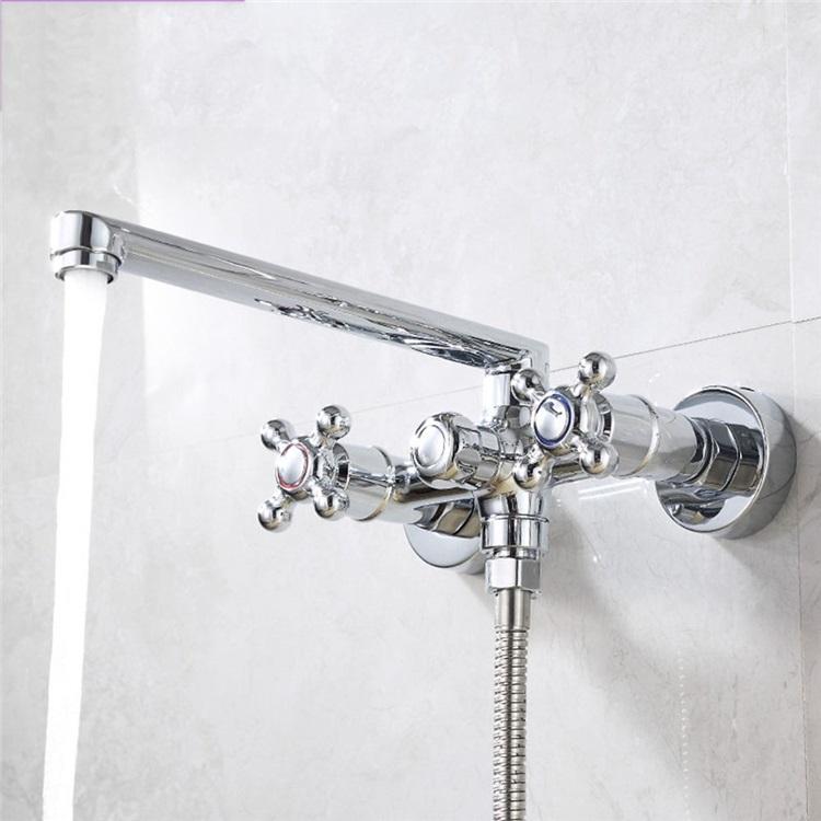 浴室シャワー混合水栓 浴槽蛇口 バス水栓 壁付蛇口 水道蛇口 クロム