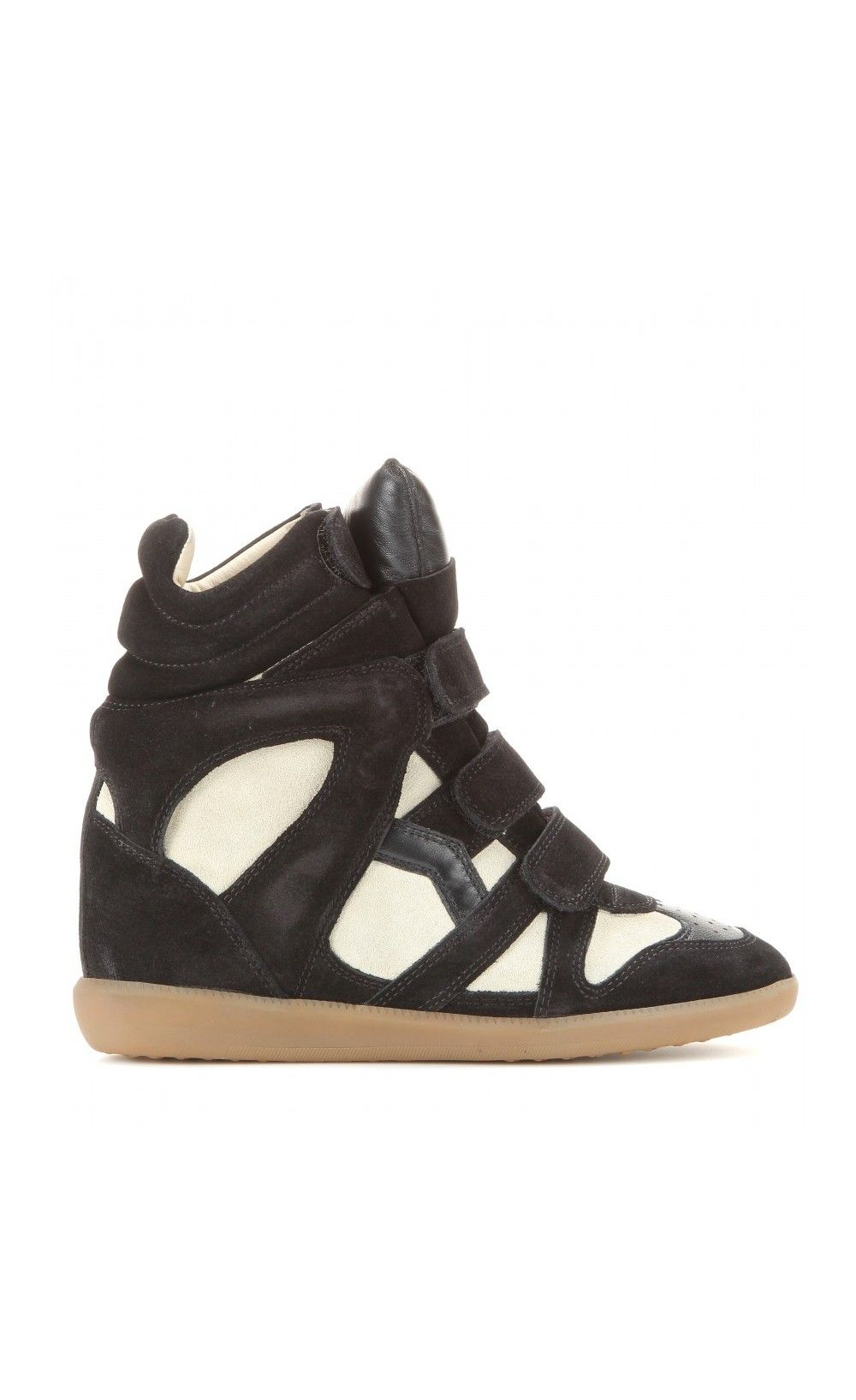 Isabel Marant Bekett Wedge Sneakers Black & Ecru Isabel