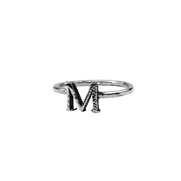 811ebc036 Letter Charm Ring in 2019 | Be-Jeweled | Charm rings, Letter charms ...