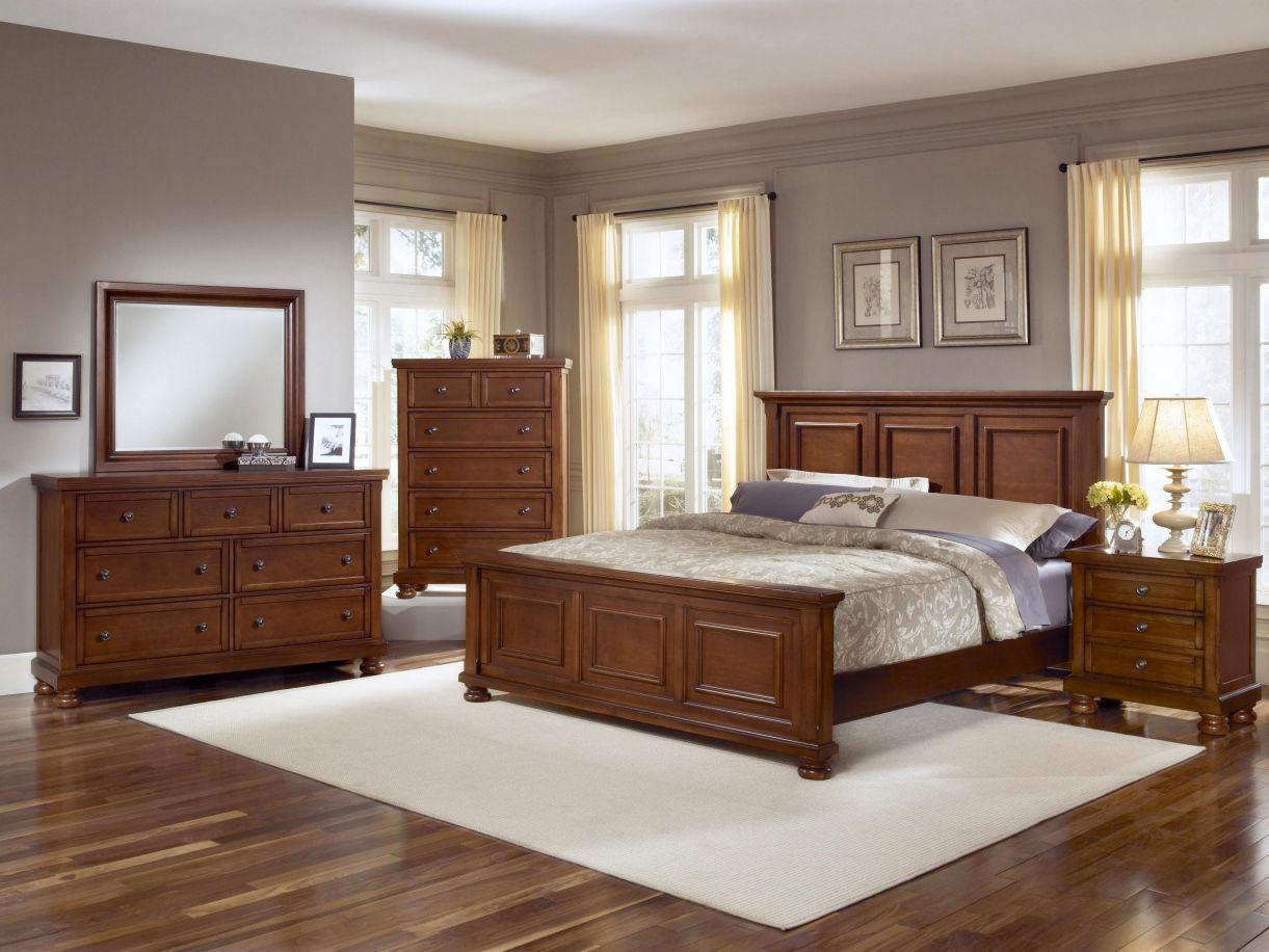 Good Vaughan Bassett Reflections Collection Mansion Storage Bedroom Set In  Medium Cherry