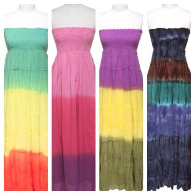 Tube tye dye summer #dresses | My Style | Pinterest
