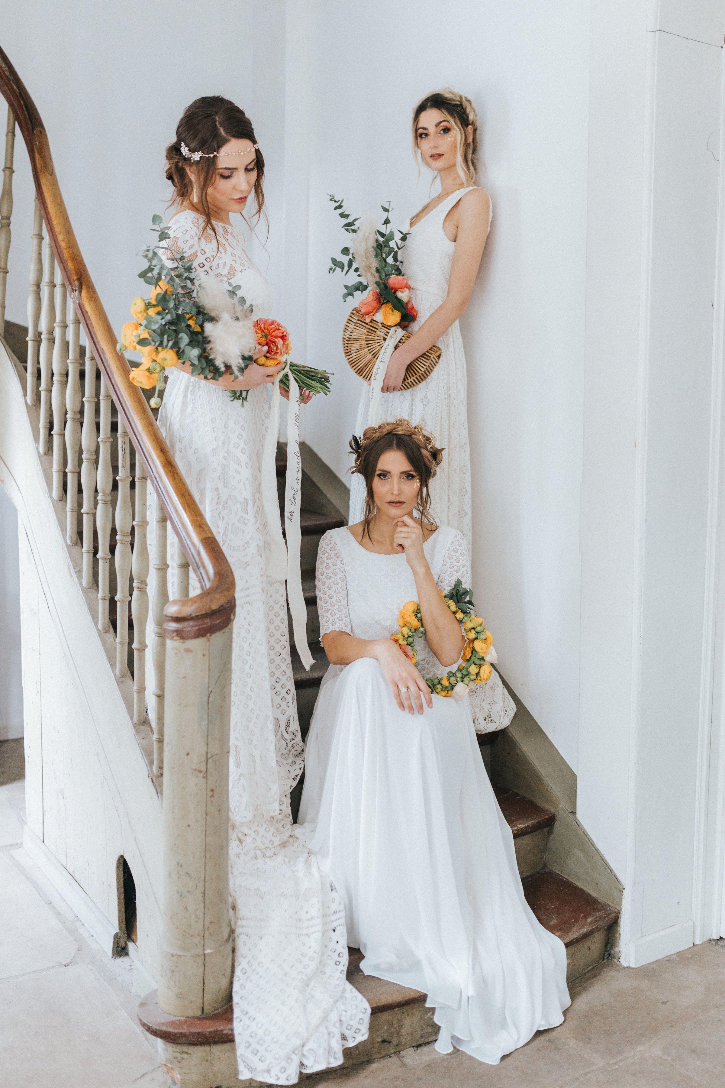 Brautkleider Aus Spitze Boho Hochzeit Vintage Zweiteiler