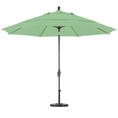 California Umbrella 11 Ft Fiberglass Collar Tilt Double Vented Patio Umbrella In Spa Pacifica Gscuf118117 Sa13 Dwv California Umbrella Patio Umbrella Market Umbrella