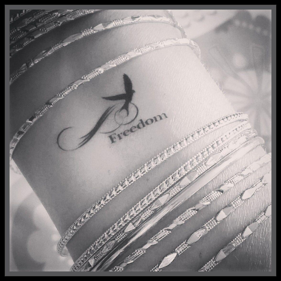 Bird Temporary Tattoo Freedom Tattoo Quote Tattoo Fake