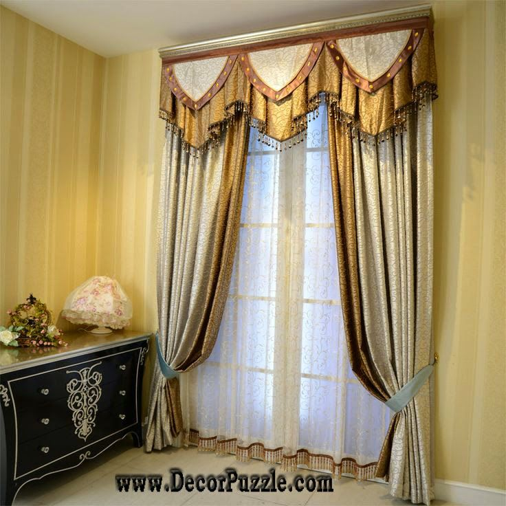 Luxury Classic Curtains Designs And Valance For Stylish Interior