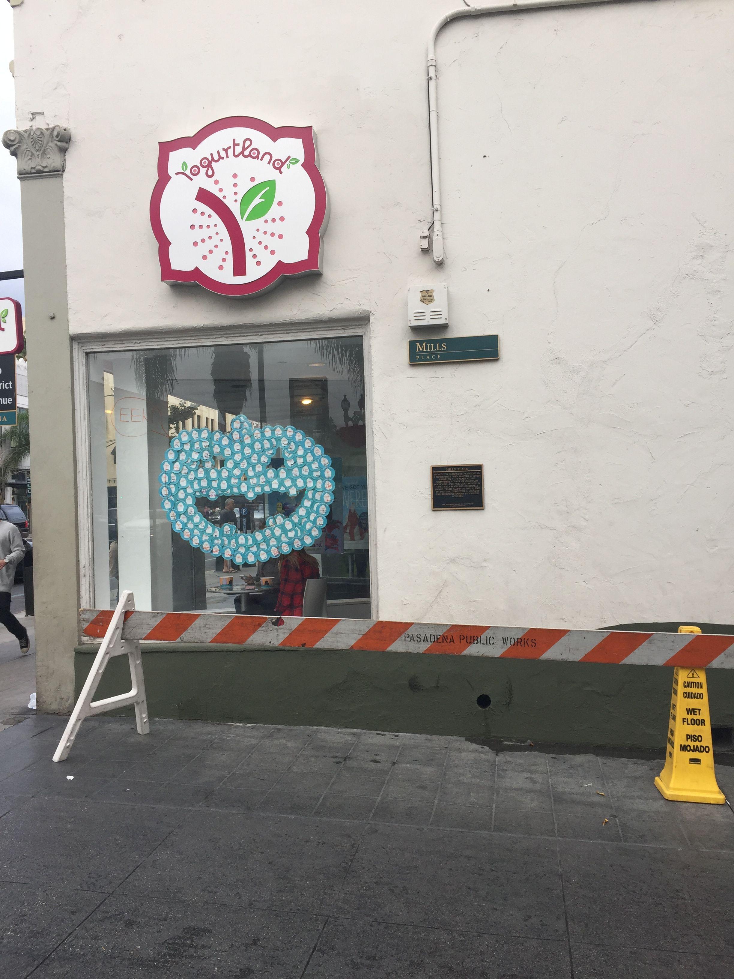 Yogurtland, Old Town Pasadena 2016 Shop decoration, Old