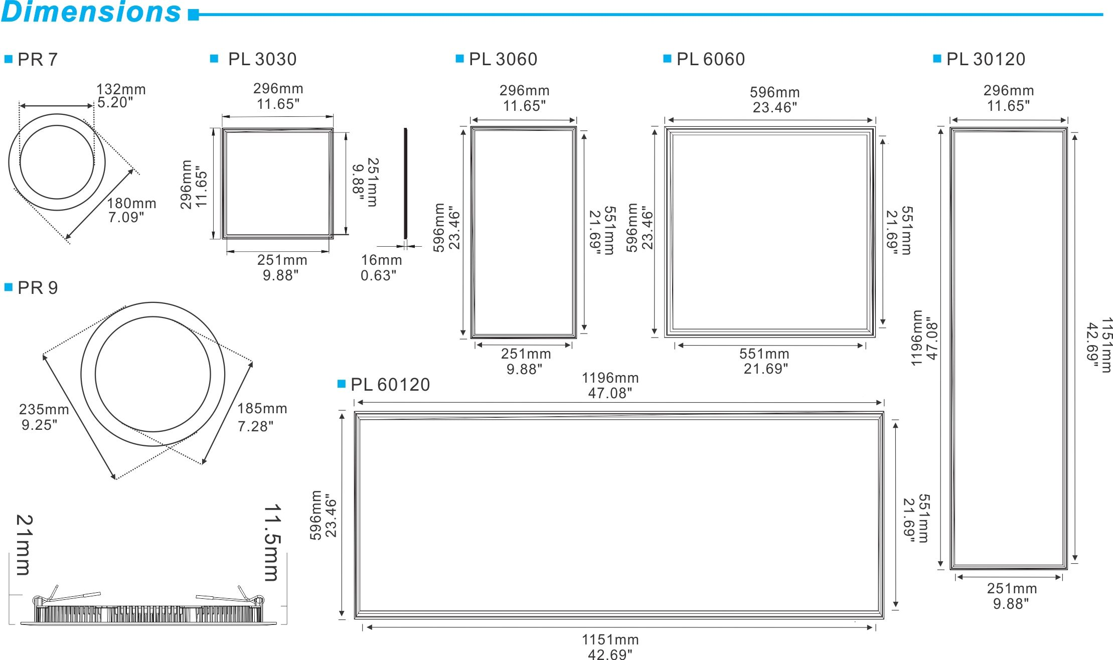 small resolution of led panel dimensions google search