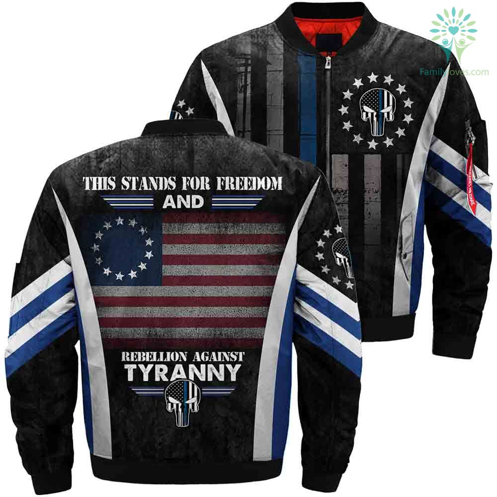 This Stands For Freedom And Rebellion Against Tyranny Over Print Jacket Print Jacket Jackets Printed Bomber Jacket