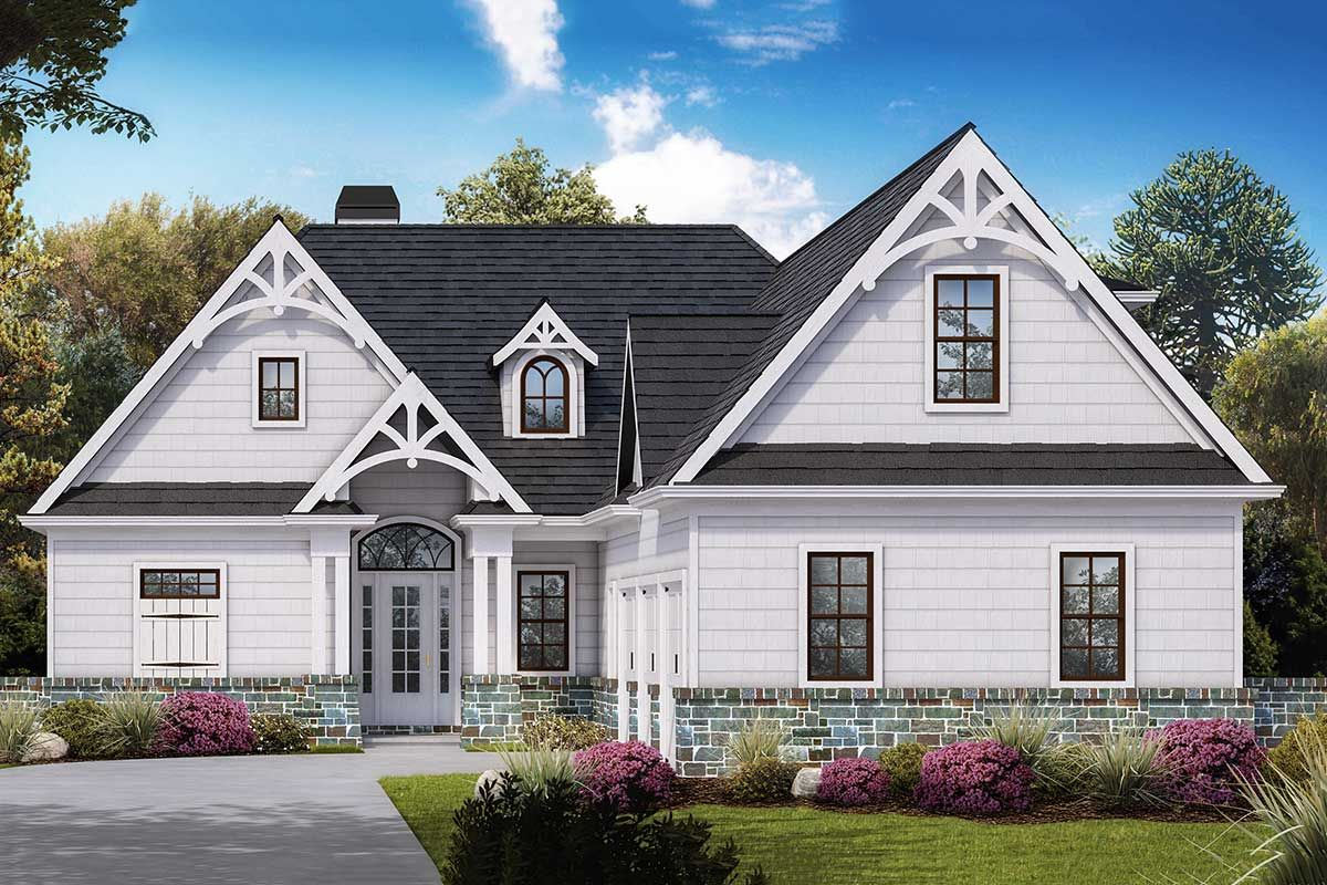 Plan 25649ge Charming 3 Bed Craftsman House Plan With Courtyard Garage Modern Farmhouse Plans Courtyard House Plans Craftsman House Plan