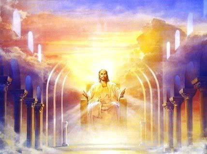 Image result for image of jesus on a golden throne