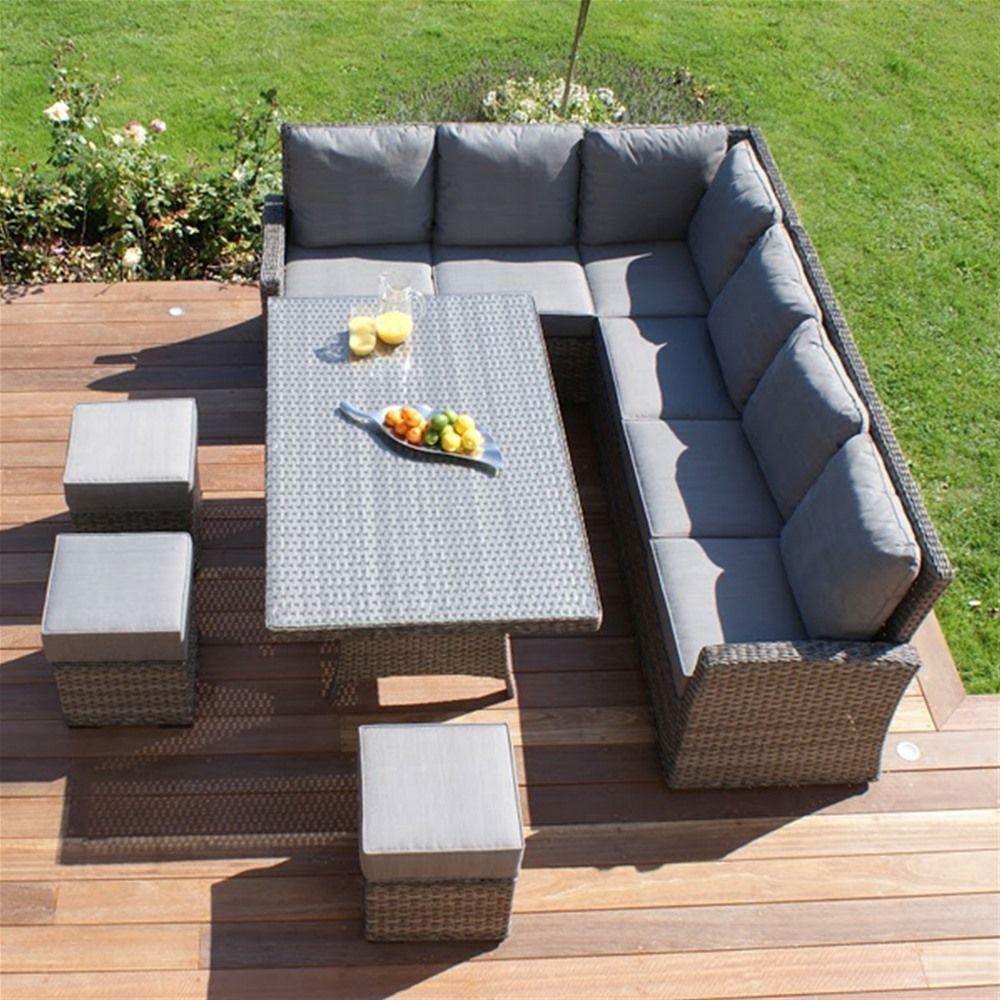 buy maze rattan victoria kingston corner sofa dining set from our rattan garden furniture range at tesco direct - Garden Furniture For Small Gardens