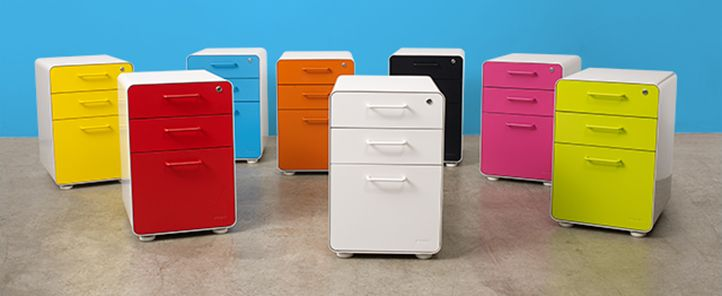 Poppin West 18th File Cabinets   In All Sorts Of Bright Colors. With Lock.  $200