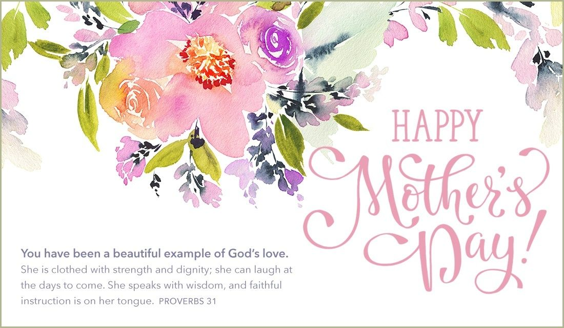Mother/'s Day Greeting Card PROVERBS 28:20 Mother/'s Day Roses Religious
