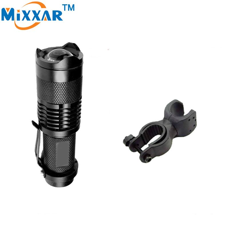ZK57 Mini Cree Q5 2000lm Led Outdoor Zoomable Light Lamp Bicycle