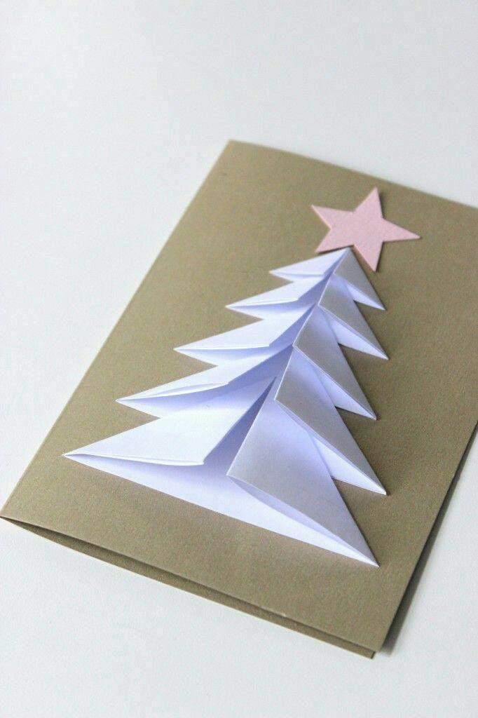 ideas para tarjetas navideñas hechas a mano 만들기 Pinterest