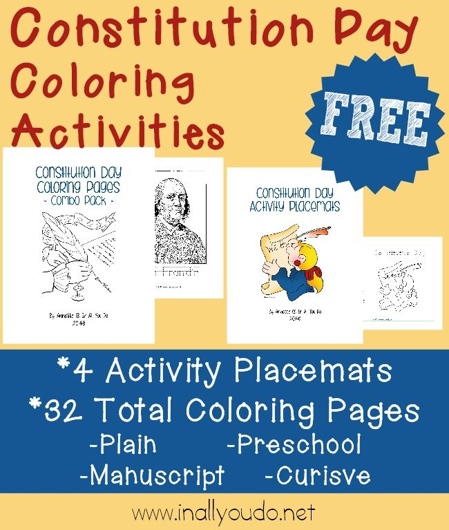Free Constitution Day Coloring Activities In All You Do