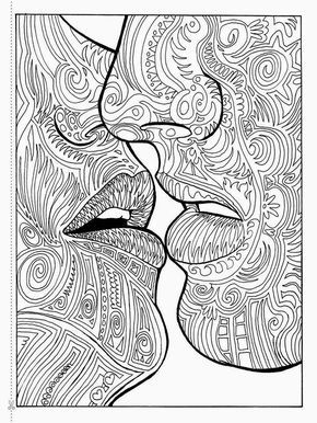 steampunk kissing | free adult coloring pages, adult coloring, printable adult coloring pages