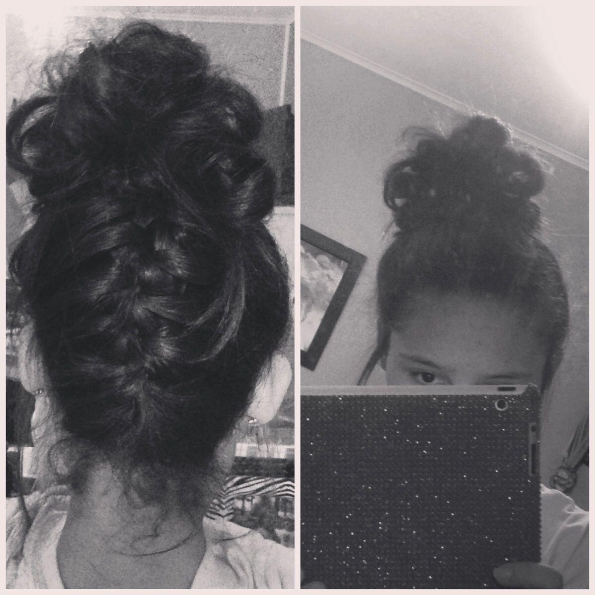 Cute braid and bun simple lazy day hair style  HAIR fantasies