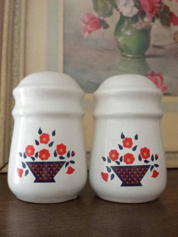 Vintage Made in Taiwan Salt and Pepper Shakers by ObscureVintage