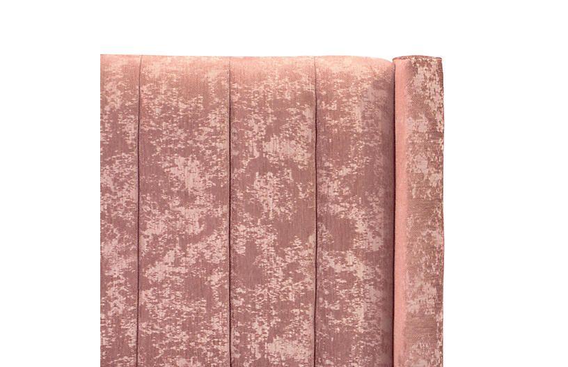 Rachel Channel Seam Bed, Pink Velvet $939.00