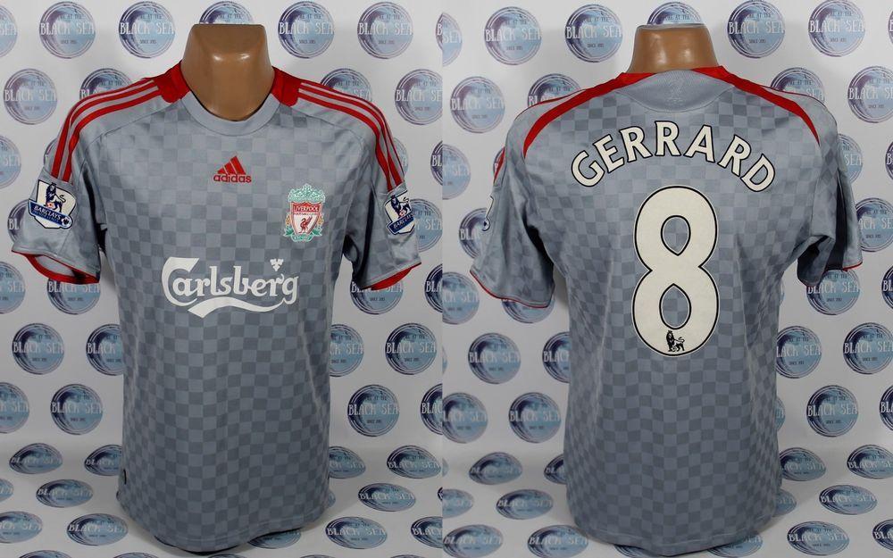LIVERPOOL 2008 2009  8 GERRARD AWAY FOOTBALL SOCCER SHIRT JERSEY TRIKOT ADIDAS  L  adidas  Liverpool a3063029d7674