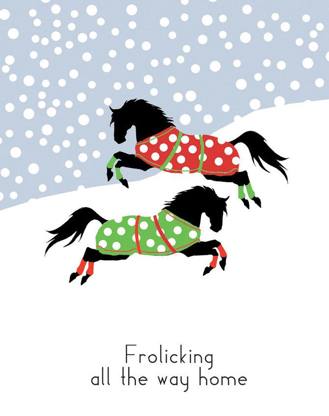 make sure that your friends and family know that they are getting a merry christmas from your horse too with these new for 2017 boxed christmas cards