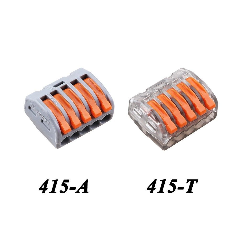 10pcs Lot Wago 5pin Universal Compact 5 Wire Connector Conductor Auto Wiring Types Terminal Block 222
