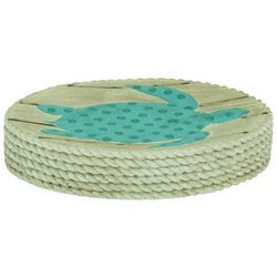 Bacova Coastal Patch Aqua Soap Dish Dish Soap Soap Bath Accessories