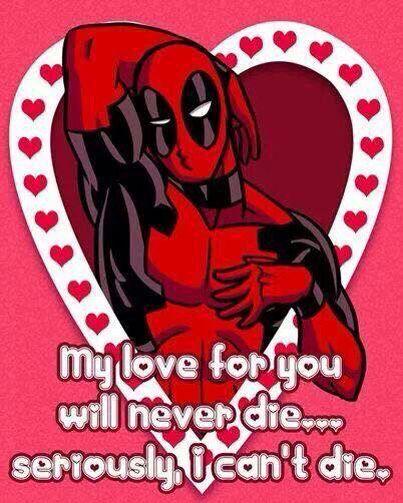 Deadpool Valentine S Day Card Deadpool Pinterest Deadpool