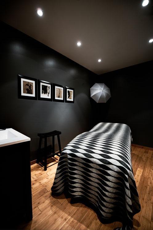 Black Treatment Room Spa Design Ideas Pinterest
