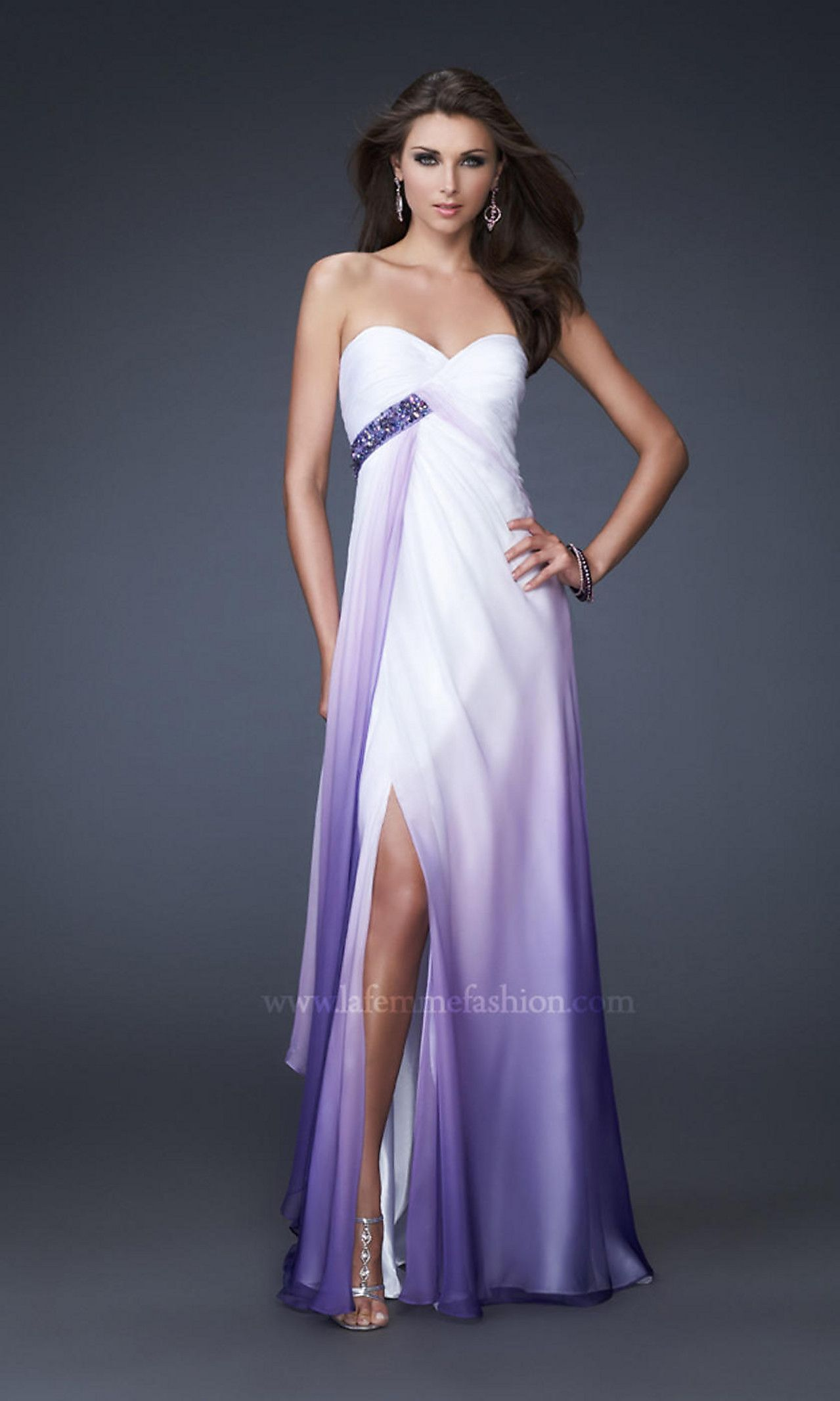 Purple ombré gown couture pinterest gowns purple dress and