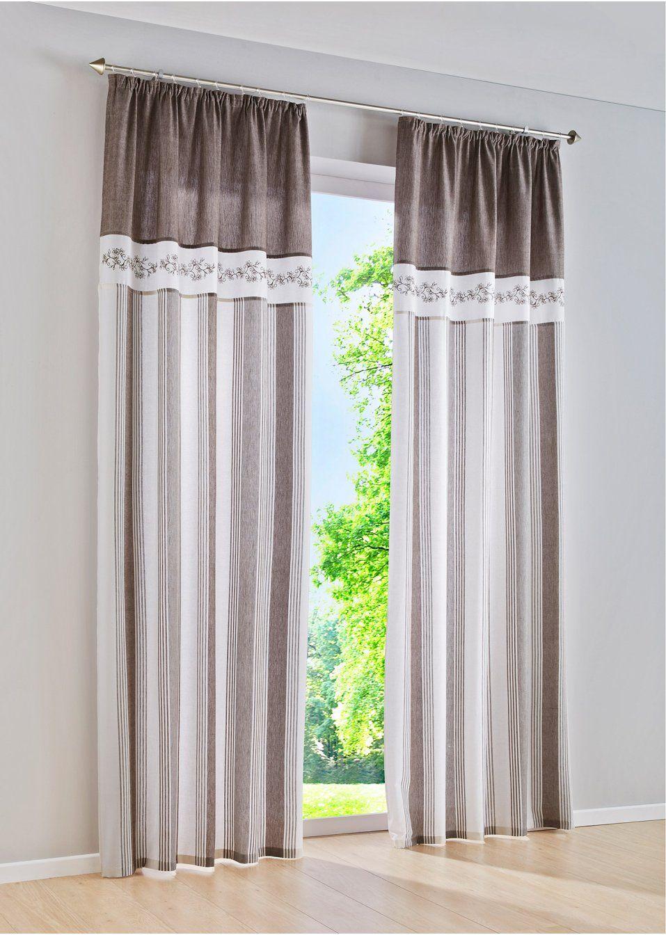 Traumhaft romantischer Vorhang | Landhausstil, Bordüren und Drucken