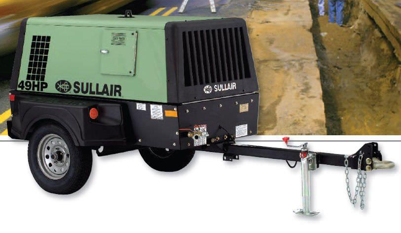 service truck air compressor generator