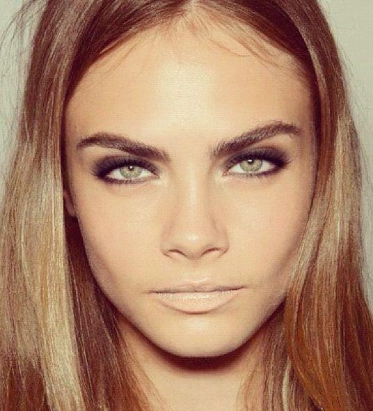 Eye make up and nude lips