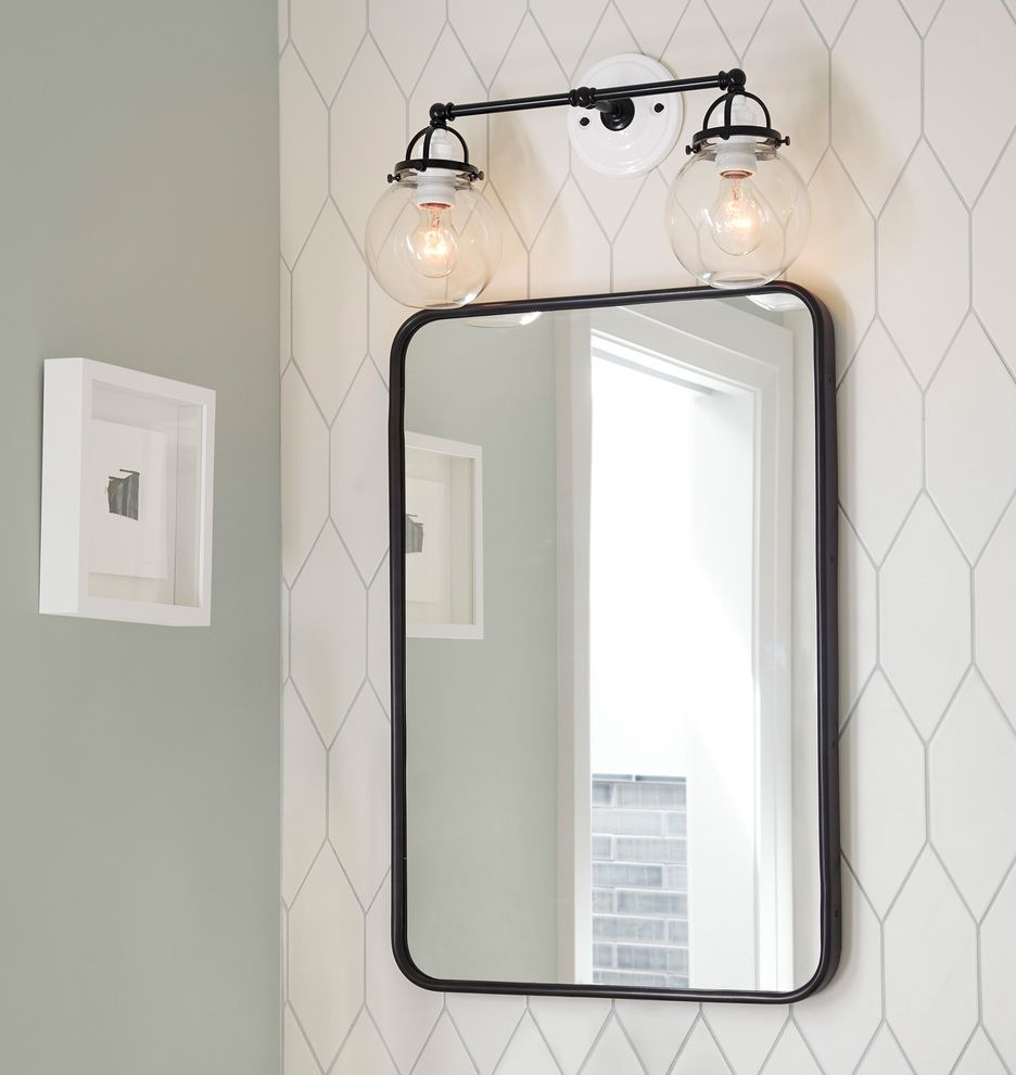 30 X 42 Oil Rubbed Bronze Rounded Rectangle Metal Framed Mirror Rejuvenation Metal Frame Mirror Bathroom Decor Mirror Frames