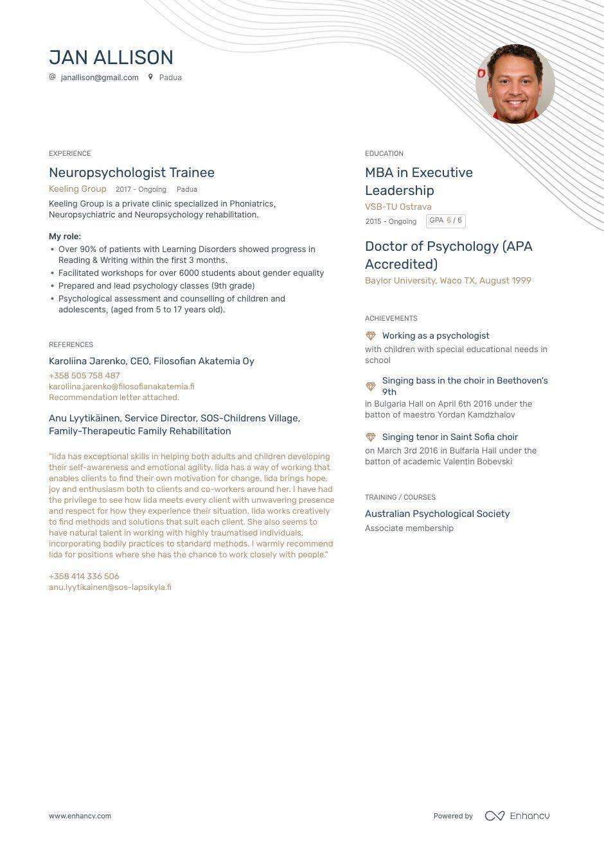 47+ School psychologist resume samples ideas in 2021