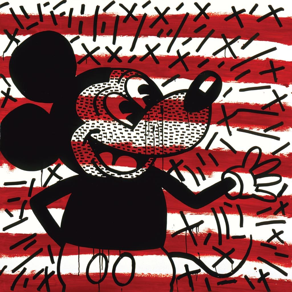 Keith Haring Untitled Mickey