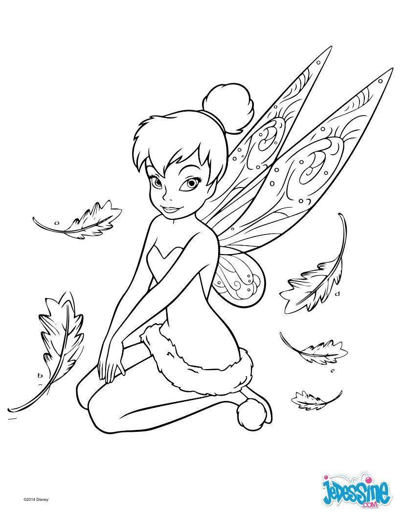 Un joli coloriage de Peter Pan avec la fée clochette. Un dessin