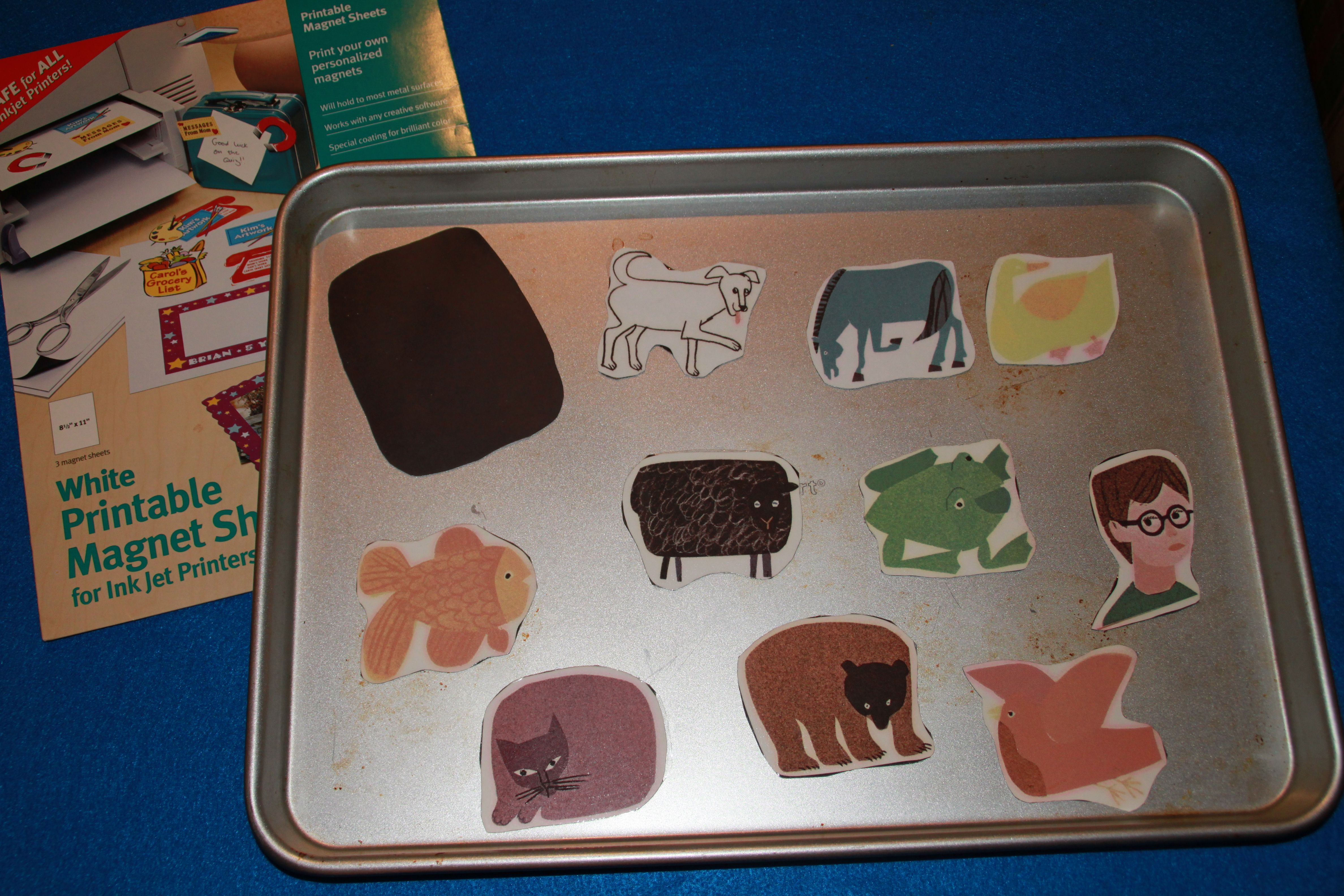 Use Printable Magnetic Sheets For Story Retelling Props Like This One In The Library Area Of A