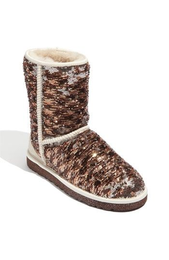 UGG® Australia 'Classic Short Champagne Sparkle' Boot | Nordstrom - StyleSays