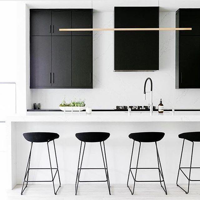 Inspiration d\u0027une cuisine minimaliste hyper chic blackwhite Sobre