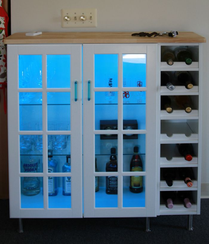 How To Combine Ikea Items To Build Your Own Wine Rack Home Bar